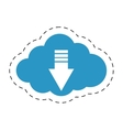cloud download system information cut line vector image