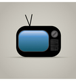 Web icon of retro tv vector image