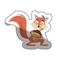 isolated squirrel cartoon design vector image