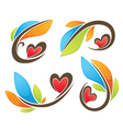 love plant vector image vector image