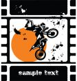 bike in the sun vector image vector image