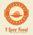 Food design over beige background vector image