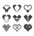 abstract heart icon design vector image
