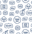 Outline phrases seamless pattern on white vector image vector image