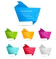 origami baanners vector image vector image