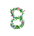 flower number of butterflies vector image vector image