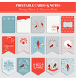 Printable Cards Tags and Labels - Christmas vector image