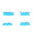 cartoon water splash collection vector image