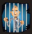 Prisoner in Jail vector image