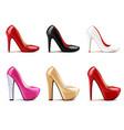 women shoes realistic set vector image