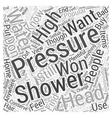 high pressure shower head Word Cloud Concept vector image