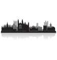 Cambridge city skyline silhouette vector image