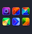 Abstract App Icons Frames vector image