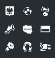 set of poland icons vector image