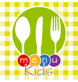 menu kids vector image