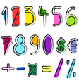 artistic numbers vector image vector image