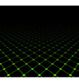 Perspective grid dark surface vector image