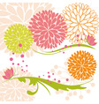 abstract springtime colorful flower and butterfly vector image vector image