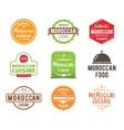 Moroccan cuisine label vector image