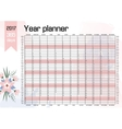 Year Wall Planner Plan out your whole with this vector image