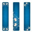 Set of three vertical banner blue jeans with pink vector image