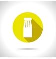 color flat bottle template vector image