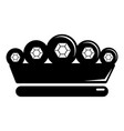 king crown icon simple black style vector image