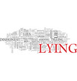 lying word cloud concept vector image