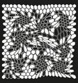 ornament modern honeycomb digital camouflage vector image