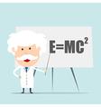 Professor and scientist presenting Einstein vector image