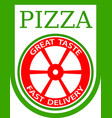 traditional italian pizza emblem vector image