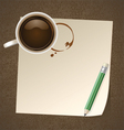 Coffee with Paper Note vector image