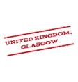 United Kingdom Glasgow Watermark Stamp vector image