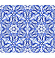 kaleidoscope blue star flower pattern vector image