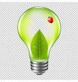 eco bulb with ladybug vector image vector image