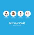 flat icon telemarketing set of hotline service vector image