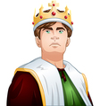 Young King With Crown Shoulders Up vector image vector image
