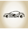 Car an animal vector image