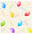 party background with balloons vector image