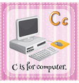 Letter C is for computer vector image vector image