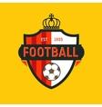 Vintage color football soccer championship logo - vector image