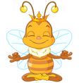 Meditating Queen Bee vector image