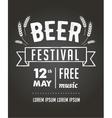 Beer festival black board event poster vector image