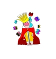 image the barefoot funny king which has a vector image