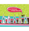 christmas background with forest of christmas tree vector image