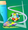 corner free kick football action art brush vector image