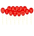 happy birthday red balloons vector image