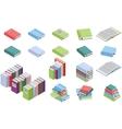 Isometric books set vector image