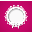 pink card with a frame vector image