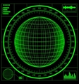 radar screen digital globe vector image